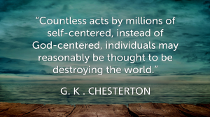 Chesterton on selfishness